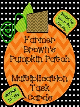 Halloween Math Multiplication Task Cards CCSS