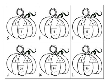 Pumpkin Multiplication/Division Fact Family