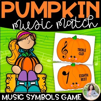 Pumpkin Music Puzzles: Music Symbol Puzzle Cards for Elementary Students