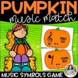 Music Symbol Matching Game for Elementary Students: Pumpki