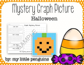 Pumpkin Mystery Graphing picture (Graph, Grid) Halloween