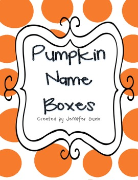 Pumpkin Name Boxes