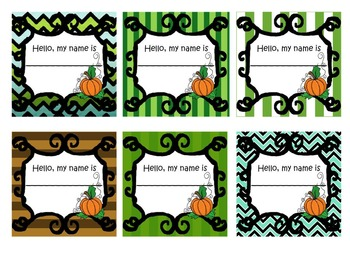 Pumpkin Name Tags