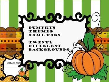 Pumpkin Name Tags