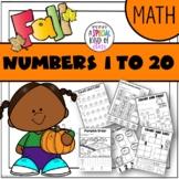 Pumpkin No Prep Math for Kindergarten