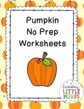 Pumpkin No Prep Worksheets