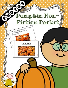 Pumpkin Non-Fiction Packet for Autism / Special Education