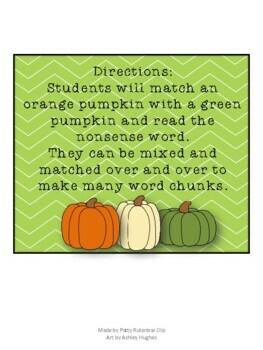 Pumpkin Nonsense Words