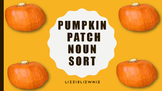 Pumpkin Noun Sort