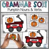 Pumpkin Noun and Verb Sort