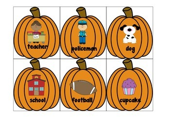 Pumpkin Nouns vs. Adjectives Write the Room/Sort