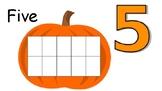 Pumpkin Number 5 Math Mat
