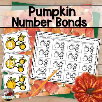 Pumpkin Number Bond Task Cards