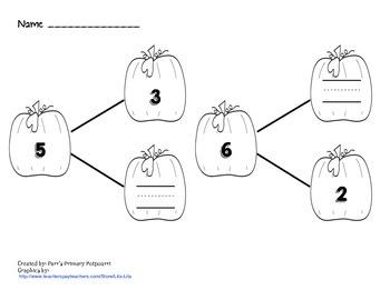 Pumpkin Number Bond and Number Sorting Pack
