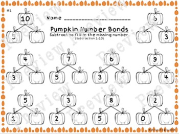 Pumpkin Number Bonds