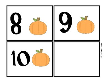Pumpkin Number Cards 0-10