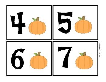 Pumpkin Number Cards 0-10