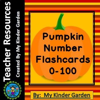 Pumpkin Math Number Flashcards 0-100