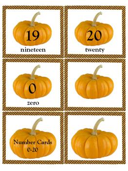 Pumpkin Number Cards 0-20