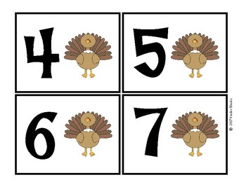 Thanksgiving Number Cards 0-20