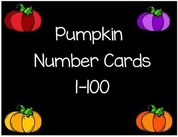 Pumpkin Number Cards 1-100