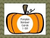 Pumpkin Number Cards 1-120