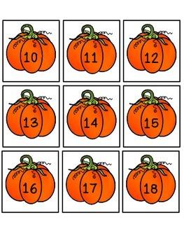 Pumpkin Number Cards 1-30
