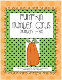 Pumpkin Number Cards to 50