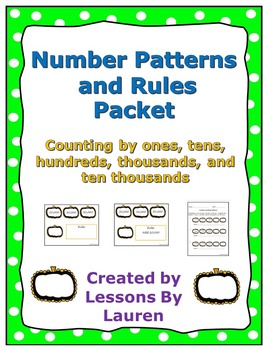 Number Patterns and Rules (Counting by 1s, 10s, 100s, 1000