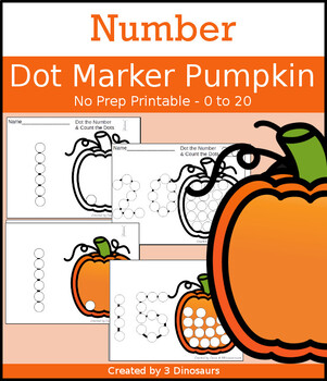 Pumpkin Number Dot Marker & Counting