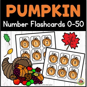 Pumpkin Number Flashcards 0-50