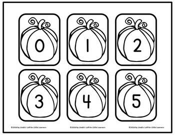Pumpkin Number Flashcards 0-50