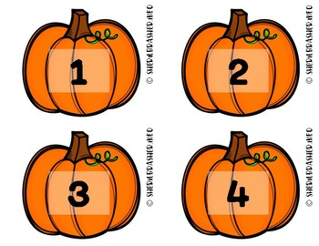 Pumpkin Number Fluency Cards | Spanish | 1-10