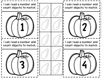 Pumpkin Number Fun 0-10!  Center, Printables, Interactive Notebook & More!