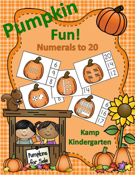 Pumpkin Number Fun Math Centers Numerals to 20