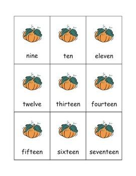 Pumpkin Number Games: 0-25 eBook