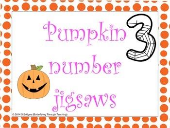 Pumpkin Number Jigsaws