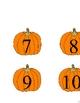 Pumpkin Number Line Activity