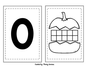 Pumpkin Number Line-Number Cards