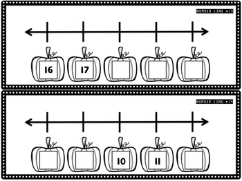 Pumpkin Number Lines (0-20) {French & English}