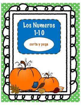 Pumpkin Number Match 1-10 SPANISH