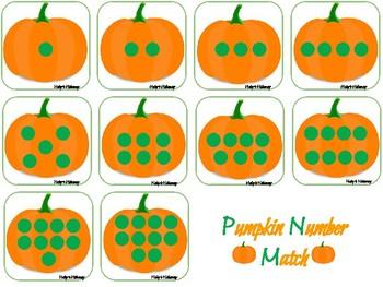 Pumpkin Number Match- Dots