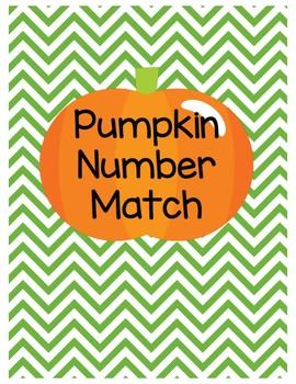 Pumpkin Number Match Math Center for Kindergarten