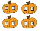 Pumpkin Number Matching Activity