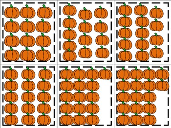 Pumpkin Number Matching- Halloween themed