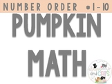 Pumpkin Number Ordering 1-10