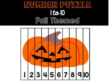 Pumpkin Number Puzzle 1-10