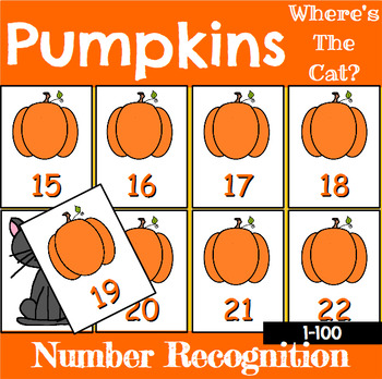 Pumpkin Number Recognition Center or Whole Group Game for Halloween