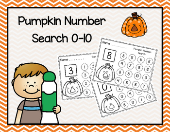 Pumpkin Number Search 0-10