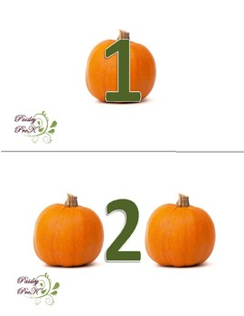 Pumpkin Number Set 1-8